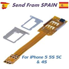 Dual SIM Card Adapter Converter for iPhone 5 5S 5C 4S