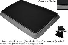 GREY & BLACK CUSTOM FITS SUZUKI 350 GOOSE REAR SLIP ON LEATHER SEAT COVER