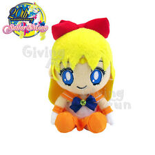 "GENUINE BANDAI Sailor Moon 20th Anniversary Sailor Venus 8"" Plush Doll Toy JP"