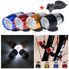 6 LED Waterproof Bike Cycling Head Lamp Light Bicycle Flash Safety Tail + Mount