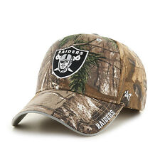 Oakland Raiders '47 Brand Camo Realtree Frost MVP Adjustable Hat