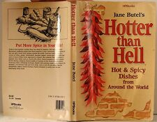 HOTTER Than HELL CookBook HOT & SPICY Dishes from AROUND the WORLD 1987