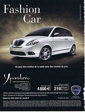 PUBLICITE ADVERTISING 094 2009 LANCIA Ypsilon Fashion Car