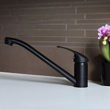 Black Traditional Modern Single Lever Kitchen Sink Basin Mixer Tap - (604B)