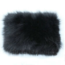 Women&Men's Real Rabbit Fur Collar Scarf Shawl Wrap Hottest Neck Warmer