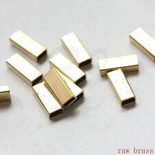 20pcs Raw Brass Square Tube - Spacer - Big Hole 12x5mm (3063C-S-406)