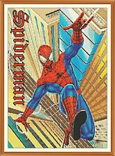 SPIDERMAN 2000 cross stitch chart 8,5 x 12,0 pollici