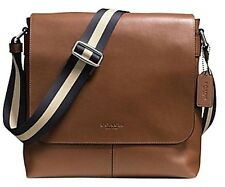 Coach Mens Sullivan Messenger Bag Dark Saddle Leather Shoulder Crossbody F72362