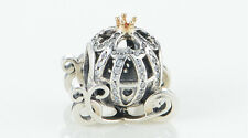 CINDERELLA'S CARRIAGE 925 Sterling Silver Solid European Charm Bead for Bracelet