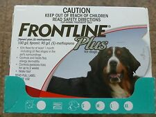 Frontline Plus For XL Extra Large Dogs 89-132lbs 6 Months Doses (Red 40-60KG)