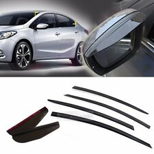 Smoke Window Vent Visor Side Mirror Rain Guard 6P For KIA 2013-2017 Forte K3