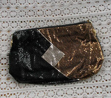 RARE Vintage Gold Black Mesh Whiting & Davis Ladies Evening Hand Bag Purse NR