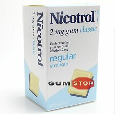 Nicotrol Nicotine Gum 2mg Classic Original Flavor (105 Pieces, 1 Box) FRESH