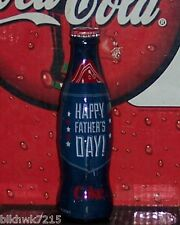 2014 WORLD OF COCA COLA  FATHER'S  DAY WRAPPED 8 OZ COCA COLA BOTTLE NEW