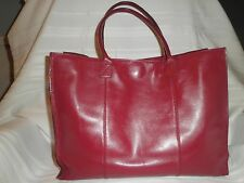 Summit Hill Red Leather Made in Korea Tote Handbag