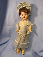 "11"" Antique German **Young Lady Doll**   ORIGINAL Clothing ~ No Damage"