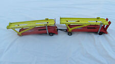 """VINTAGE """"CORGI JUNIORS"""" YELLOW DOUBLE CAR TRANSPORTERS MADE IN GREAT BRITAIN"""