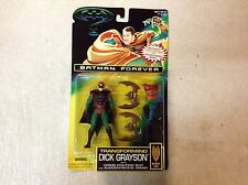 Batman Forever Transforming Dick Grayson Action Figure Kenner Toy ON CARD 1995