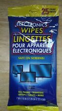Electronic Cleaning Wipes 25pk-LCD monitors, Flat Screen, TVs, Cell phones, iPad