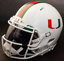 MIAMI HURRICANES NCAA Authentic GAMEDAY Football Helmet w/ OAKLEY Eye Shield