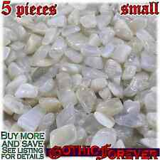 5 Small 10mm Combo Ship Tumbled Gem Stone Crystal Natural - Moonstone