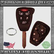 New Remote Key Replacement Case Shell 6 Button Chrysler Dodge Jeep M3N5WY72XX