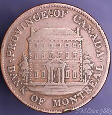 1844 Bank of Montreal Half Penny token Canada Canadian [7883]
