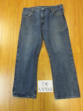 Used Levi 517 boot cut grunge jean tag 36x29 meas 34x28 zip13922