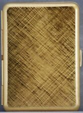 Hansaware Slim Pocket Cigarette Case Florentine Brass Design Made in Germany NEW