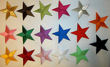 LOT of 5: YOUR CHOICE Red Blue Gold Yellow Pink Silver 2 inch star patches -254