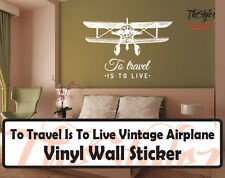 To Travel Is To Live Vintage Air Balloon Wall Expressions Vinyl Sticker