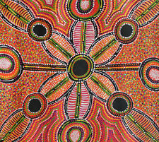 Bush Plum dreaming - Aboriginal Art by Rochelle Bird 53X48cm