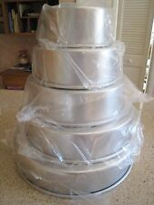 "Magic Line 3"" Round Professional Wedding Tier Cake Pans 6""8"",10""12""14"" NEW Set 5"