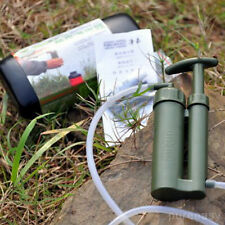 Soldier Portable Water Purifier Purification Backpacking Pump Filter&Hard Case