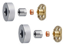 "Thermostatic Shower Bar Mixer Valve 3/4"" Round Brass Fast Easy Fit Fixing Kit"