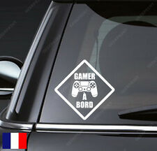 STICKER AUTOCOLLANT GAMER A BORD POUR VOTRE VOITURE IDEAL FAN DE JEUX VIDEO