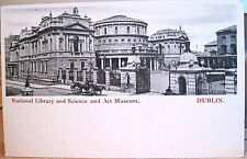Irish Postcard NATIONAL LIBRARY SCIENCE ART MUSEUM Dublin Ireland Undivided Mint