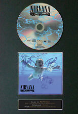 NIRVANA Nevermind Signed Autograph CD & Cover Mounted Print A4 20