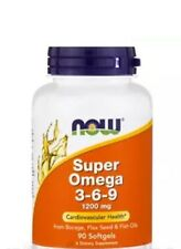 Super Omega 3-6-9 1200 mg - 90 Softgels by NOW Fast Shipping