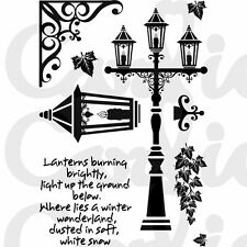 New Card-io Majestix Clear Stamps Vintage Lanterns