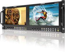 """TVLogic PRM-902A(800x480)-Dual of 9"""" LCD rack monitor(4RU),Waveform/Vectors"""