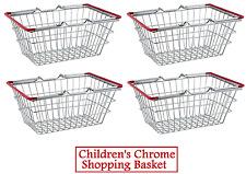 4 X Niños Niños Juguetes de la cesta de compra de Cromo Mini juegos de rol presentación de la comida