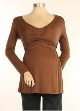 New JAPANESE WEEKEND MATERNITY NURSING Around My Heart Cross Front TOP S 6 8 $88