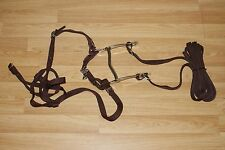 NEW HILASON SYNTHETIC HORSE BROWBAND BRIDLE HEADSTALL SPLIT REINS BIT CURB CHAIN
