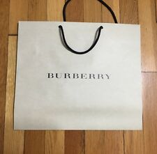 New Large Burberry Shopping Paper Bag / Gift Bag 19X16X7 100% Authentic