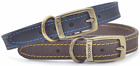 Ancol Timberwolf Leather Dog Collars and Leads, all sizes, two colours