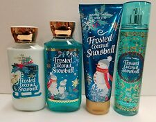 Frosted Coconut Snowball Bath & Body Works FRAGRANCE MIST LOTIONS Lot Of 4!