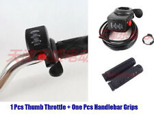 48V Gas Twist Throttle Thumb Throttle Handle Bar Grips Scooter Electric Bike KIT