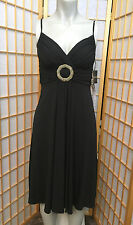 MORGAN MCFEETERS Black Short Lined Formal Cocktail Evening Dress womens Size 2