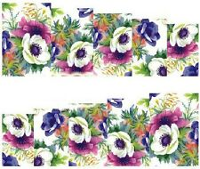 Nail Art Decals Transfers Stickers Pretty Flowers (A-844)